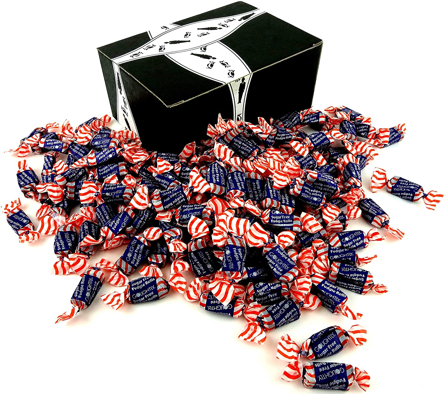 Outlet sale feature GoLightly Sugar Free Fudgie Rolls 3 lb in Popular brand in the world Box a Bag BlackTie