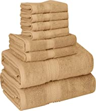 Utopia Towels 8 Piece Towel Set, 700 GSM, 2 Bath Towels, 2 Hand Towels and 4 Washcloths, Beige