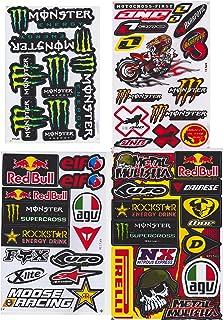 JAB 4 x weerbestendige vinyl stickers bomb promotion aanbieding sponsors tuning motorfiets auto Rally 4 vellen voorgestans...