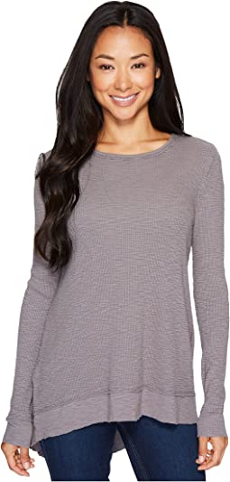 Dylan by True Grit - Softest Slub Waffle Asymmetrical Top