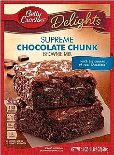 Betty Crocker Delights Brownie Mix Supreme Chocolate Chunk 18.0 oz Box (pack of 6)