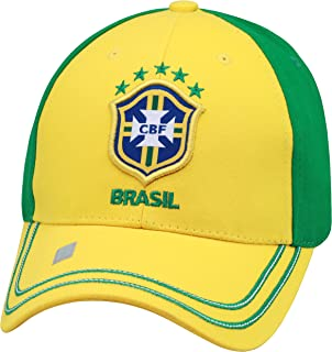 Brasil 2014 World Cup Yellow/Green Adjustable Buckle Hat/Cap