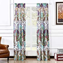 Greenland Home GL-1401GWP Nirvana Curtain Panel Pair, 84 x 84-inch, Teal