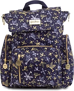 JuJuBe x Harry Potter Be Sporty Backpack | Multi-Functional Diaper Messenger Bag | Lightweight, Durable Travel-Friendly | Flying Keys