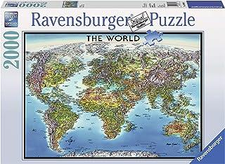 Ravensburger World Map Puzzle 2000pc,Adult Puzzles