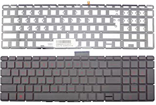 CHNASAWE Laptop US Backlit Keyboard with Red Font for HP Star Wars Special Edition 15-an 15-an000 Series