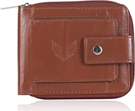 VOGARD Men's Genuine Leather RFID Protected Wallet (Tan)