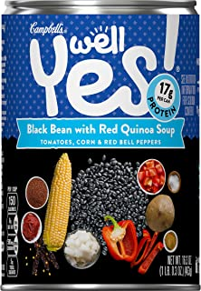 Campbell's Well Yes! Black Bean with Red Quinoa Soup, 16.3 oz. Can (Pack of 12)