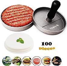 Meykers Burger Press 100 Patty Papers Set – Non-Stick Hamburger Press Patty Maker..