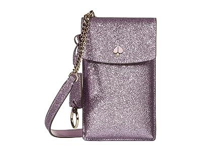 Kate Spade New York Glitter NS Flap Phone Crossbody (Lilac) Cross Body Handbags