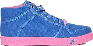 Vlado Footwear Spectro Mid Canvas Sneakers-Blue/Pink-12