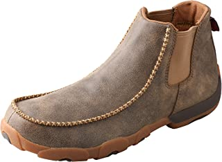 Twisted X Men's Twin Gore Driving Moccasins Bomber - High-Shaft Outdoor Casual Footwear