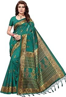 Anni Designer Women's Art silk with blouse piece Saree(Free Size)