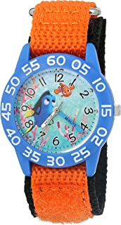 Disney Boy's 'Finding Dory' Quartz Plastic and Nylon Watch, Color:Orange (Model: W003014)