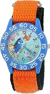 Disney Boy's 'Finding Dory' Quartz Plastic and Nylon Watch, Color:Orange (Model: W003014)
