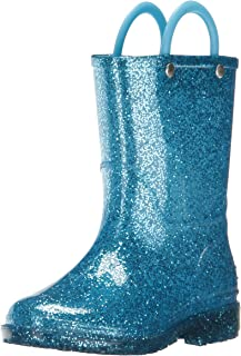 Western Chief Unisex-Child Girls Kids Glitter Waterproof Rain Boot