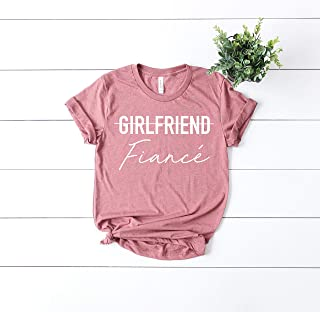 new fiance tee bridal party gift idea newly engaged T- shirt gift tee