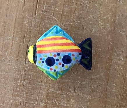 Fish Knob, Fish Drawer Pull, Ceramic Fish, Coastal Hardware