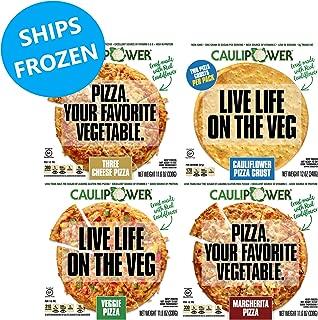 CAULIPOWER Variety Pack Cauliflower Crust Pizzas, Gluten Free, Non-Gmo, Lower Carb, Variety Pack - 1 Cheese, 1 Margherita, 1 Veggie, 2 Crusts