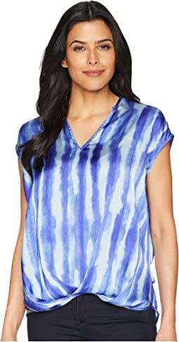 V-Neck High-Low Hem Top