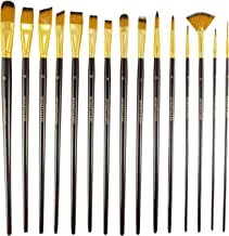 Paint Brush - Set of 15 Art Brushes for Watercolor, Acrylic & Oil Painting - Premium Art Supplies by MyArtscape™
