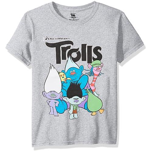 0410a475c Trolls Boys Short Sleeve T-Shirt