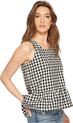 Pax Gingham Cross-Back Top