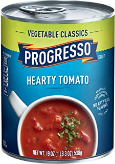 Progresso Low Fat Vegetable Classics Hearty Tomato Soup 19 oz Can (pack of 12)