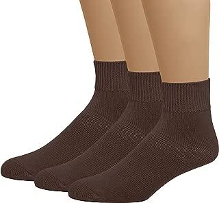 Classic Women's Diabetic Non-Binding Ankle Cotton Socks 3-Pack