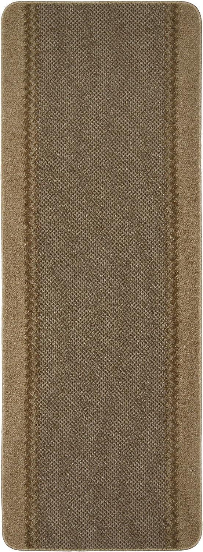 (Beige, 180x67) - William Armes Dandy Kilkis Washable Hallway Runner, Carpet Runner, 180 x 67cm - Beige