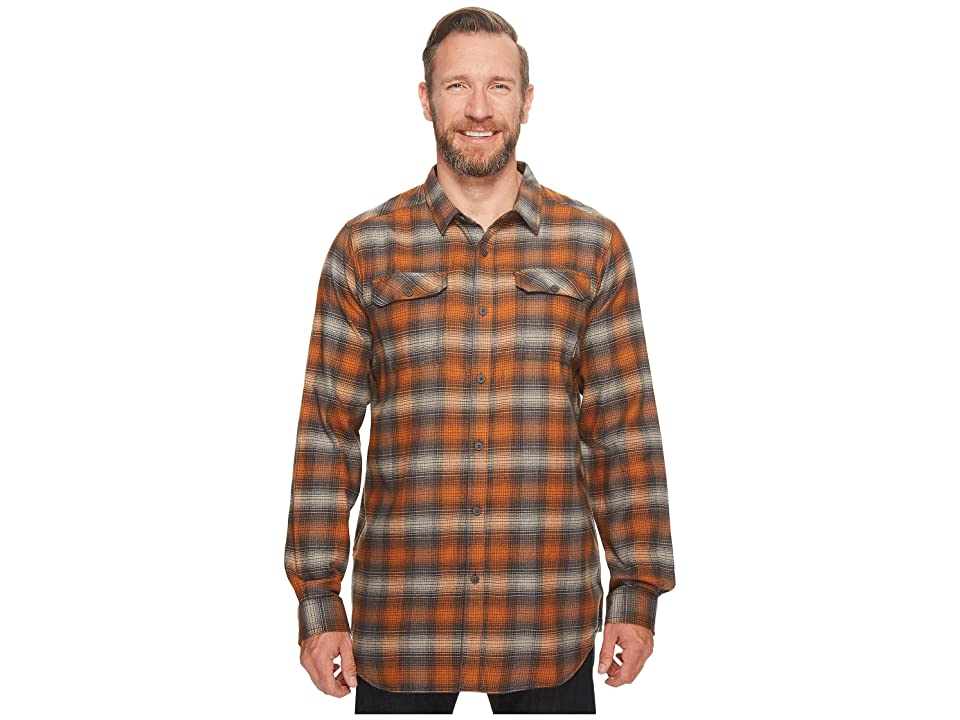 Columbia Big Tall Flare Gun Flannel III Long Sleeve Shirt (Bright Copper Ombre) Men