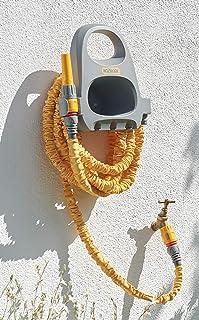 Hozelock Hose Hanger with 15m Superhoze Hosepipe, Yellow & Grey