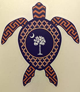 Auto Graphics South Carolina Palmetto Tree and Crescent Moon Sea Turtle Decal - 5