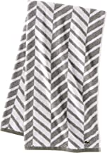 Lacoste Herringbone 100% Cotton Towel, 30x54 Bath, Meteorite