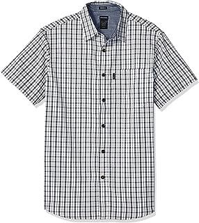 Men's Modern Fit Yarn Dyed Short Sleeve Flex Plaid Shirt