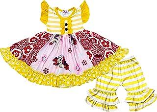 Baby Toddler Little Girls Disneyland Trip Minnie Dress Capri Outfit - Boutique Designs - 2 pc Knit Playwear