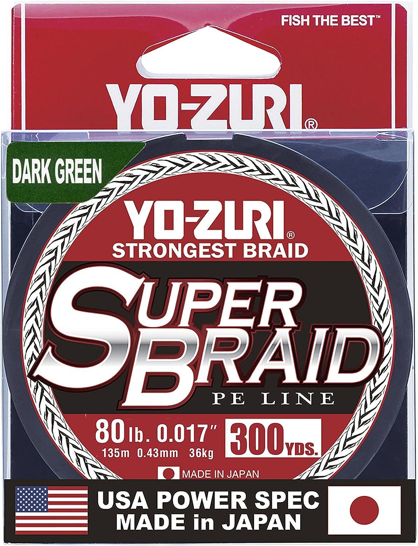 Yo-Zuri Yo-Zuri YZ SB 80LB DG 300YD Super YZ SB 80LB DG 300YD, Dark Green, 80 lb