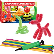 "Global Gizmos 55010 ""Classic Balloon Animal Modelling Kit including Pump Toy"