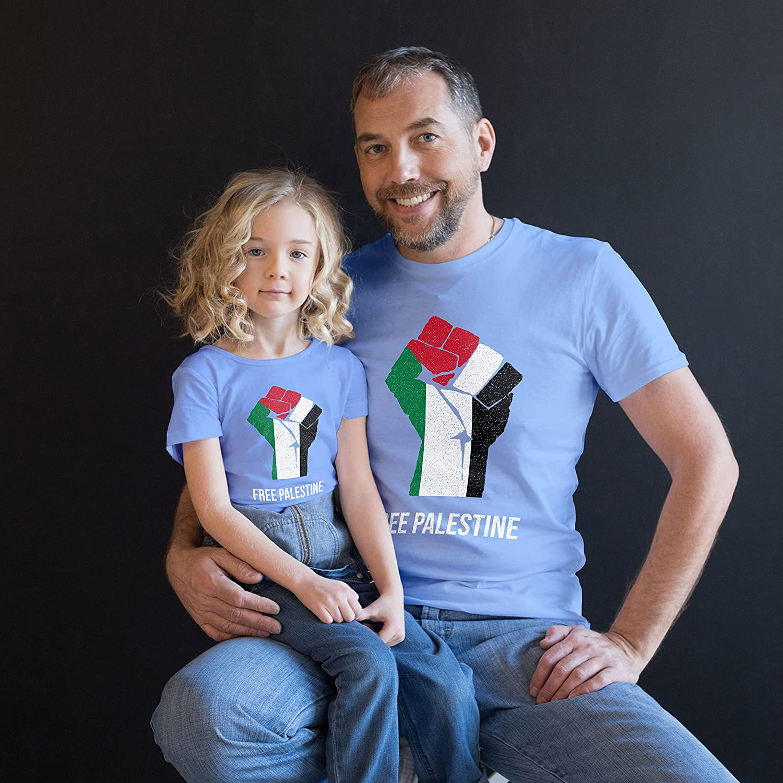 Free Paslestine Raised Fist Kids Custom Personalized T-Shirt