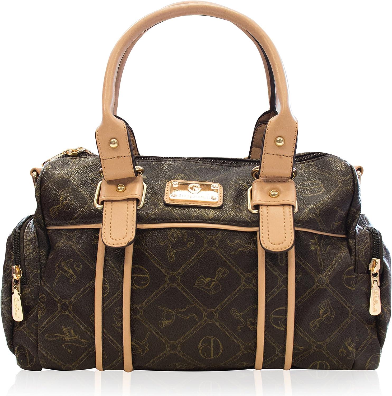 Halal-Wear Damentasche Umhängetasche Handtasche Kunst Leder von von von Giulia Pieralli sehr beliebt - Modell  26119E Farbe  Braun B01NBVFXJQ  Wunderbar 5f6fcc