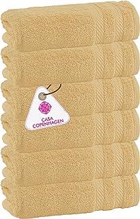 """Denmark Soft Linen Premium Cotton , 6 Piece Hand Towel Set [Worth $72.95] - """"Beige (6 Pcs Hand Towels Set )"""