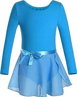 DANSHOW Girls Team Basic Long Sleeve Leotard Skirt Kid Dance Ballet Tutu Dress