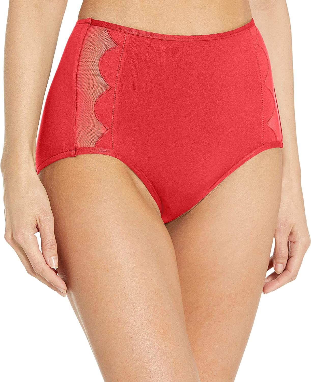 Seafolly Women's Petal Edge High Waist Bikini Bottom Swimsuit