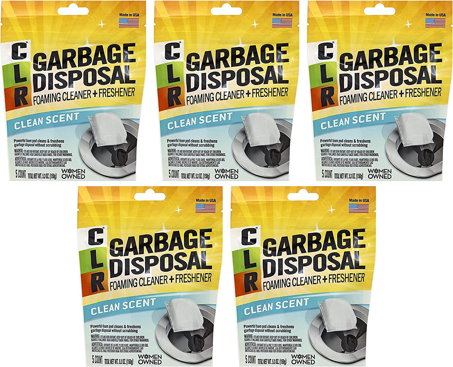 CLR Garbage Disposal Al sold out. Cleaner Расk Pods Max 57% OFF Fіvе 5