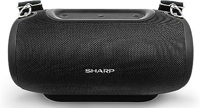 Sharp GX-BT480 (BK) Stereo-Bluetooth-Lautsprecher (100 dB + SPL-Ausgang, 20 Stunden..