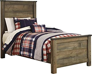 Ashley Furniture Trinell Twin Panel Bed in Brown
