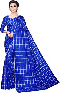 BHAKARWADi Women's Khadi Silk Saree with Blouse Piece (Var-RUC-323_Free Size)