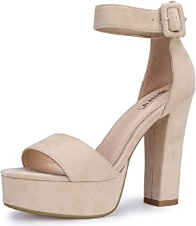 Women's IN5 Sabrina Ankle Strap Platform High Chunky Heels Party Sandal
