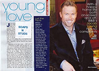 Jacob Young (Rick Forrester, Bold and the Beautiful) 4 Page Feature Interview Article (Clippings) from 2014 Soap Opera Digest Magazine