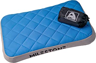 MILESTONE Outdoors Inflatable Pillow | Soft Washable Cover